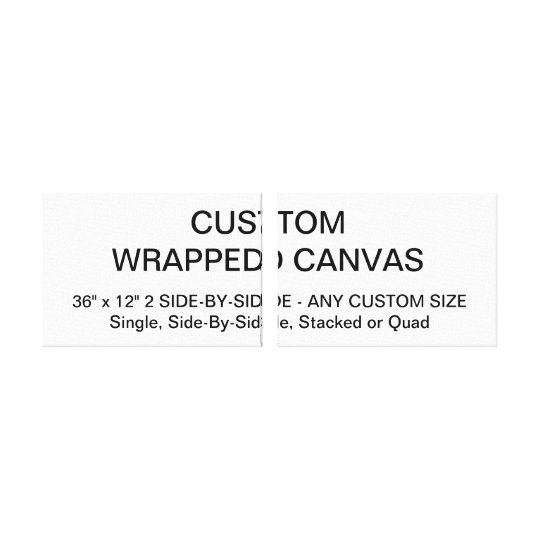"""Custom Personalised 36""""x12"""" S-B-S Wrapped Canvas"""