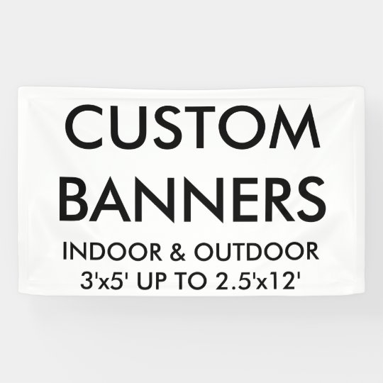 Custom Personalised 5'x3' Banner Blank Template