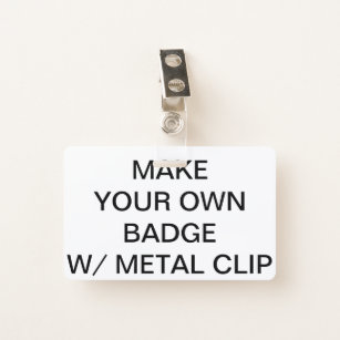 Do it yourself it yourself yourself badges zazzle custom personalised badge with metal clip id badge solutioingenieria Choice Image