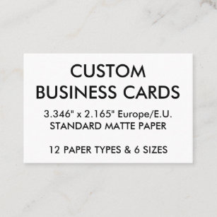 Standard business cards zazzle uk custom personalised business cards blank template reheart Images