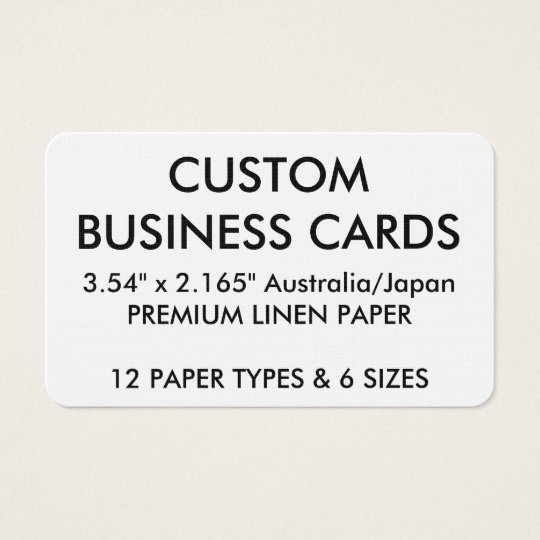 Custom Personalised Business Cards Blank Template