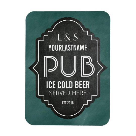 Custom Personalised Chalkboard Pub Sign Magnet