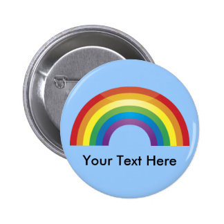 Custom Personalised Classic Rainbow Buttons