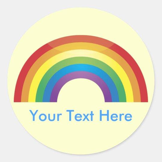 Custom Personalised Classic Rainbow Stickers
