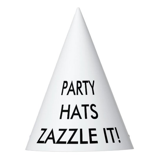 Custom Personalised Cone Party Hat Blank Template