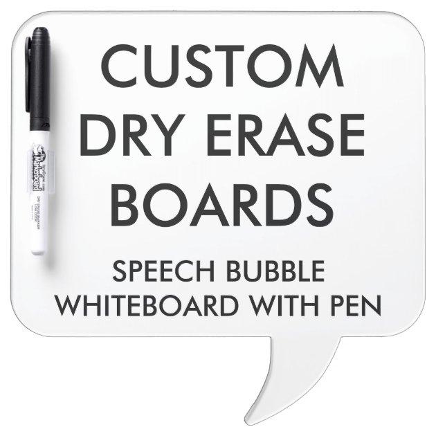 custom personalised dry erase board blank template