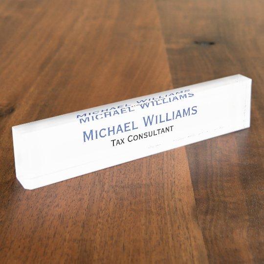 Custom Personalised Executive Job Title Name Plate