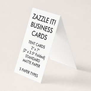 Folded business cards business card printing zazzle uk custom personalised folded tent business cards reheart Images