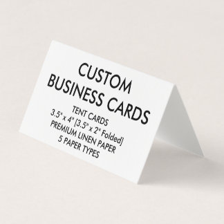Custom Personalised Folded Tent Business Cards