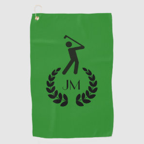 Custom Personalised Forest Green Golf Towel