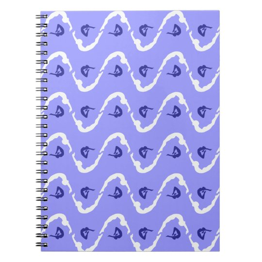 Custom Personalised Gymnastics Pattern Spiral Notebook