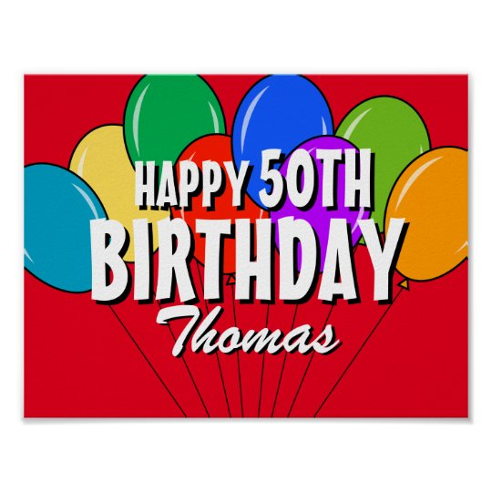 Custom personalised Happy Birthday party posters