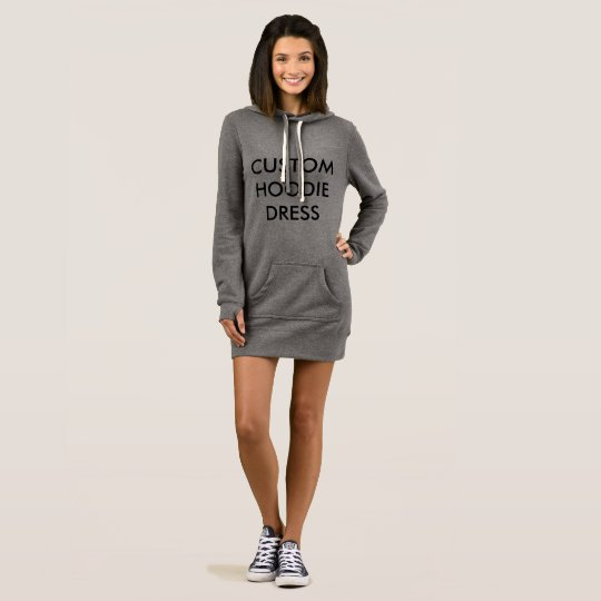 Custom Personalised Hoodie Dress Blank Template