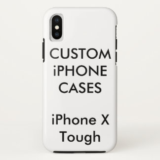 Custom Personalised iPhone X Tough Hard Shell Case