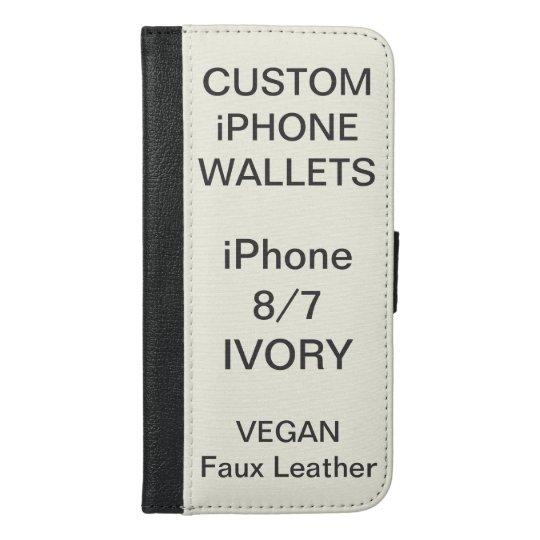 Custom Personalised IVORY iPhone 8/7 Wallet Blank