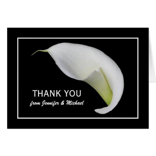 Custom Personalised Lily Blank Thank You Note Card