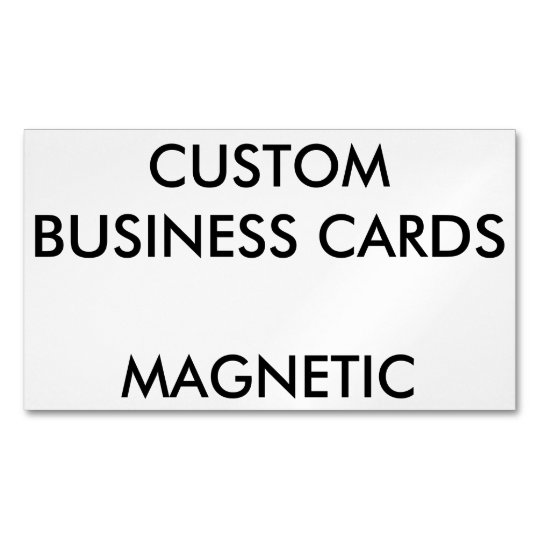 Custom Personalised Magnetic Business Cards Blank