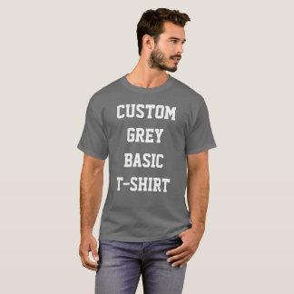 Custom Personalised Men's BASIC DARK GREY T-SHIRT
