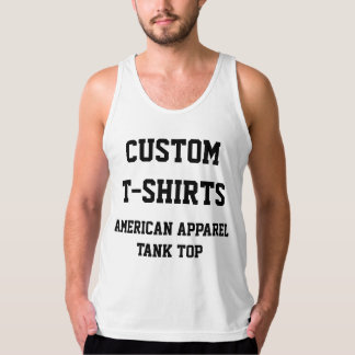 Custom Personalised Men's FINE JERSEY TANK TOP