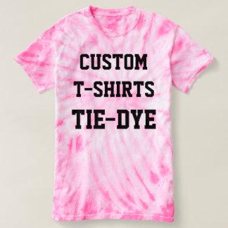 Custom Personalised Men's PINK TIE-DYE T-SHIRT