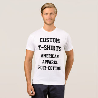 Custom Personalised Men's POLY-COTTON T-SHIRT
