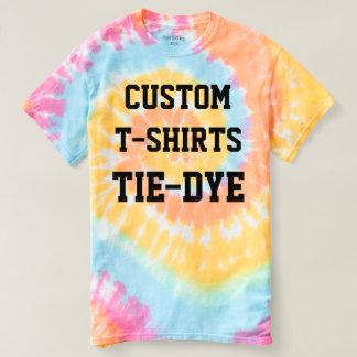 Custom Personalised Men's TIE-DYE T-SHIRT