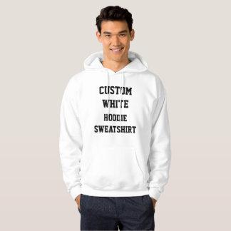 Custom Personalised Men's WHITE HOODIE SWEATSHIRT
