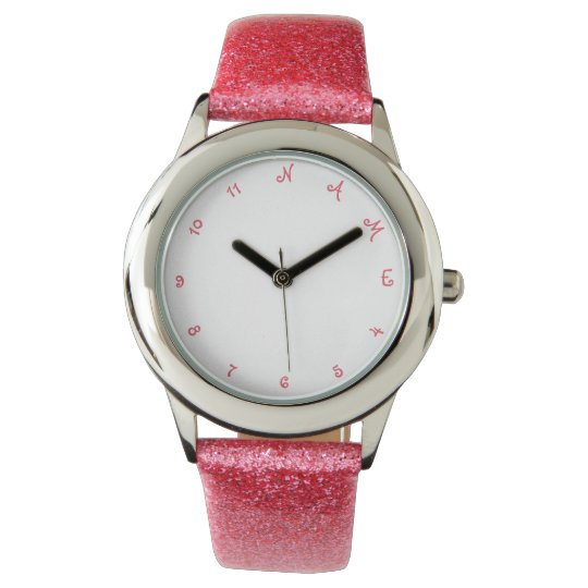 Custom Personalised Name Girls Kids Wrist Watch