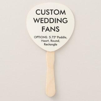 Custom Personalised PADDLE WEDDING FANS Template