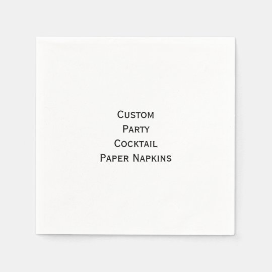 Custom Personalised Party Cocktail Paper Napkins Disposable Serviette