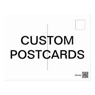 Custom Personalised Photo Postcard Blank Template