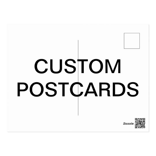 Custom Personalised Photo Postcard Blank Template