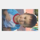 Custom Personalised Photo Rectangular Stickers