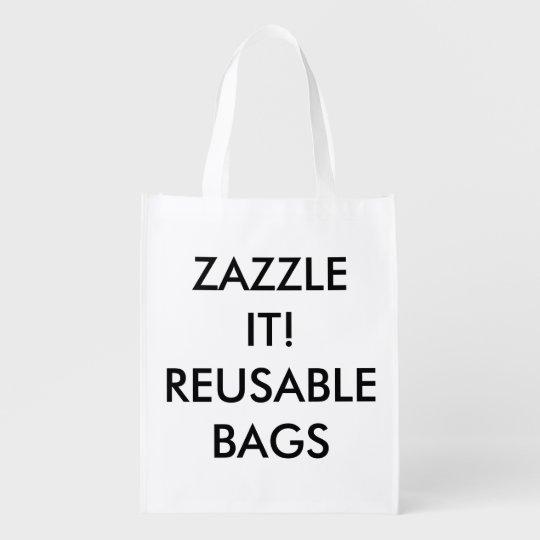 Custom Personalised Reusable Bag Blank Template