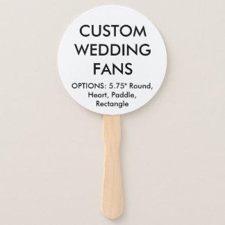 Custom Personalised ROUND WEDDING FANS Template