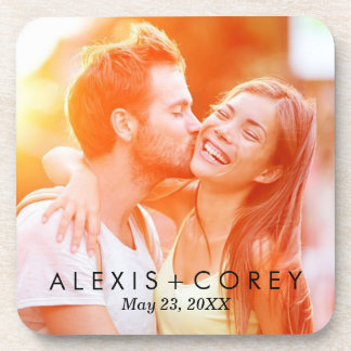 Custom Personalised Save the Date Photo Gift Coaster