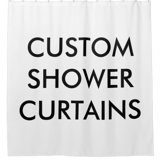 Custom Personalised Shower Curtain Blank Template