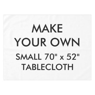 """Custom Personalised Small 70"""" x 52"""" Tablecloth"""