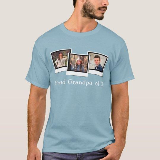 Custom Personalised Three Photo Snapshot Men's T-Shirt