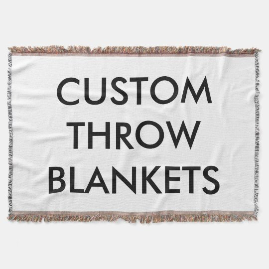 Custom Personalised Throw Blanket Blank Template