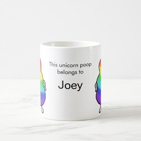 Custom Personalised Unicorn Poop Funny Mug Cute