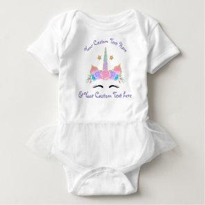 Custom Personalised Unicorn Tutu Birthday Shirt