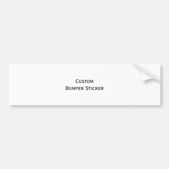 Custom Personalised Vinyl Photo Car Bumper Sticker