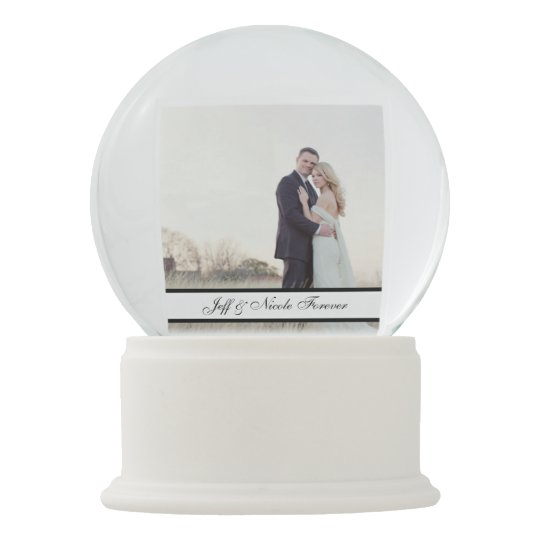 Custom Personalised Wedding Gift Snow Globe