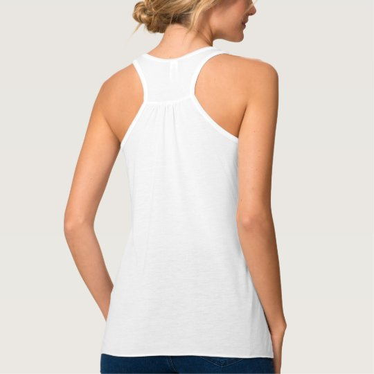 Custom Personalised Womens Flowy Racerback Fashion Tank Top