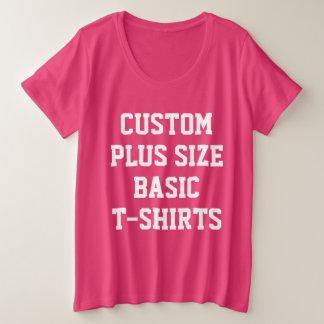 Custom Personalised Women's Plus Size T-Shirt PINK