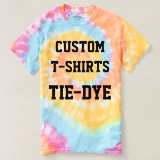Custom Personalised Women's TIE-DYE T-SHIRT