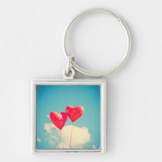custom personalize do it yourself Anniversaries Silver-Colored Square Key Ring