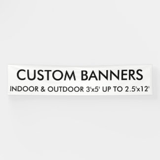 Custom Personalized 12'x2.5' Banner Blank Template