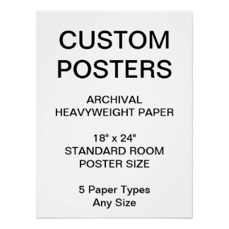 """Custom Personalized 18""""x24"""" Archival Paper Poster"""